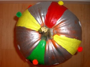 Top view of the pumpkin merry-go-round